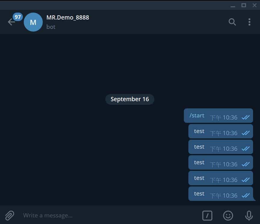 程式交易小秘書,Telegram即時通訊 13